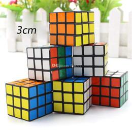 Großhandel Puzzle-Würfel klein 3cm Mini Magic Rubik Cube Spiel Rubik Learning Lernspiel Rubik Cube gutes Geschenk Toy Decompression Kinder Spielzeug