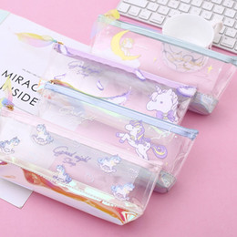 $enCountryForm.capitalKeyWord Australia - 1 PC Unicorn Pencil Case Cute Transparent Pencil Bag Soft PenBox Stationery Pen Pouch Kid Gift Office School Supplies