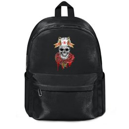 Rose Zipper Flowers UK - Guns-N-Roses-Hollywood-Rose-hard-rock-band black package,backpack,backpacks for girls cute package Casual backpack Design Anti Theft package