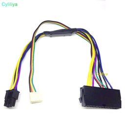 $enCountryForm.capitalKeyWord Australia - 24Pin to 2 Port 6Pin 18AWG 30cm SFF Mainboard Adaptor Power Cable For HP Z220 Z230 ATX PSU Supply Connector 24P To 6P