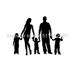 funny family stickers UK - wholesale 20pcs lot Stick Figure Family Car Stickers Truck Window Vinyl Reflective Decals Auto SUV Funny JDM Laptop Graphics 17cm x 14cm