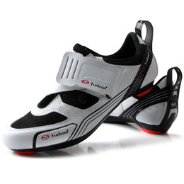 spin bikes 2019 - TIEBAO Outdoor Road Cycling Shoes Spinning Class Bike Shoes Triple Straps Compatible With SPD,SPD-SL LOOK-KEO Cleat disc