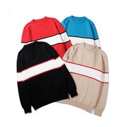 european winter fashion for men 2020 - Autumn Winter Black Sweaters For Men Fashion Long Sleeve Letter Print Couple Sweaters Loose Pullover Designer Sweaters d
