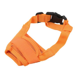 $enCountryForm.capitalKeyWord Australia - Dog Pet Mouth Bound Device Safety Adjustable Breathable Muzzle Stop Biting Barking Biting Chewing Dog Mask