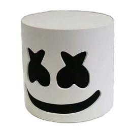 Venta al por mayor de DJ marshmello máscara de dibujos animados de Halloween Cosplay Headgears Bar Music Casco Accesorios Sin LED C6304