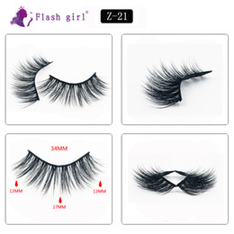 z flash UK - Z-21 Flash girl the newest Z series handmade mink eyelashes wholesale 5pairs faux mink eyelashes