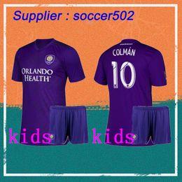 39133dd797b New 2019 MLS Club Orlando City Kids Kit Soccer Jerseys 19 20 Home Violet  COLMAN J. MENDEZ DWYER NANI F Child football Shirts+shorts