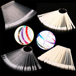Wholesale False Nails Faux Ongles bag Nail Color Sample nail Art Tips Display Practice Fan Polish Tools Equipment