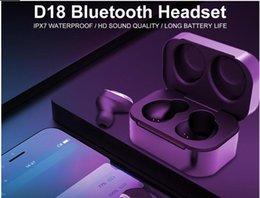 $enCountryForm.capitalKeyWord Australia - D18 Bluetooth earphone 5.0 IPX6 Waterproo Noise Reducing Stereo Surround HD Smart Headset