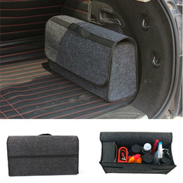 Car Trunk Foldable Boot Organiser Collapsible Storage Holder Bag Travel Tidy Box on Sale
