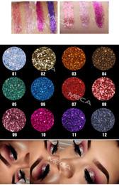 EyEshadow tattoos online shopping - Fashion Glitter Powder Eye shadow Makeup Waterproof Sequins Bright Stage Eyeshadow Shimmer Glossy Film Newest Eye Face Tattoo Beauty