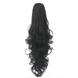 Aosiwig Langen Lockigen Pferdeschwanz Clip In Haarverlängerung Synthetische Hitzebeständige Band Wrap Um Auf Haarteile Für Frauen Haarverlängerung Und Perücken