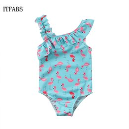 Swimwear Infant Australia - Kids Bathing Suits Girls one Piece Flamingo Bikini 2018 children swimwear for girls infant swimsuit girl child Summer bikini
