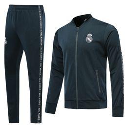 American Men Tracksuits UK - 19 20 real madrid soccer tracksuit HAZARD JOVIC MILITAO survêtement de football 2019 2020 VINICIUS ASENSIO training suit jacket sets