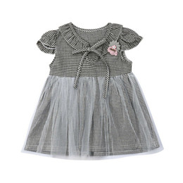 13b503bf8047 Summer Baby Dresses Plaid Lace Mini Dress Sleeveless Baby Birthday Dress  Girls Sundress Kids Dresses For Girls Party Clothes