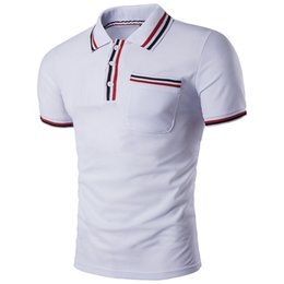4a7b0049 Fashion Men's Polo Shirts with Color Strip Stitching Code Lapel Hot Trend  Designer Polo Shirts for Men Casual Summer Men's Polos S-2XL