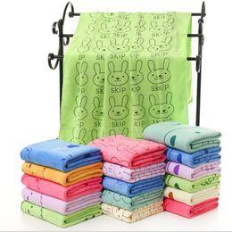 $enCountryForm.capitalKeyWord Australia - Cute Cartoon Lady Girl's Microfiber Bath Towel Women SPA Body Shower Towel Hair Dry Towels 70*140CM H235