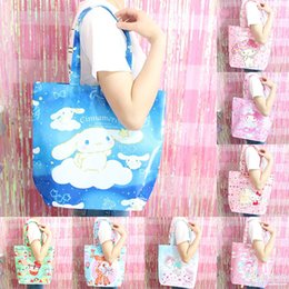 712e8343bf Cartoon Cute Hello Kitty My Melody Cinnamoroll Dog Little Twin Stars  Shopping Bag Shoulder Bags Eco Tote Handbags