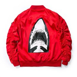 $enCountryForm.capitalKeyWord NZ - Dropshipping 2017 New Spring Red Shark Bomber Jacket Men Streetwear Brand-clothing