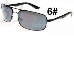 Sunglasses Designers Canada - 10PCS NEW fashion sunglasses men metal frame glasses lens vintage sun glasses brand designer woman wind cycling GLASS UV400 freeshipping