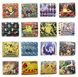 turtle purses Australia - 16 styles Wallet Pu Leather Short Royale Purse Pikachu Fire-breathing dragon water arrow turtle Kids Cartoon Anime PU wallet