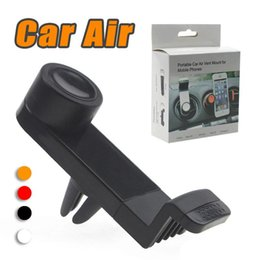 Wholesale Universal Portable Car Holder Air Vent Mount Mobile Phone GPS Frame Degree Rotating for iPhone Plus i8 s8 smart phone with package