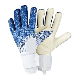 football goalkeeper gloves UK - Goalkeeper Gloves outdoors Football Professional Soft Latex Soccer Goalie Gloves Without Finger Protection futbol sports voetbal