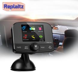 Dual banD car online shopping - DAB DAB Car Radio Bluetooth Handsfree Kit FM Transmitter Dual USB AUX TF Card Band III MHz DAB Receiver Suction Mount
