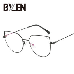 0604b86da2d 2019 Cat Eye Glasses Frames Clear Lens Women Brand Eyewear Optical  Spectacle Frame Myopia Nerd Cateye Black Eyeglasses Frame