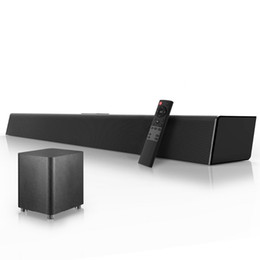 Wholesale 120W Home Theater Sound System Soundbar 2.1 TV Bluetooth Speaker Support Optical AUX Coaxial Sound Bar Subwoofer Speakers For TV