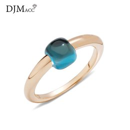 water drop rings NZ - Djmacc Classic Water Droplets Candy Style Ring 12 Color Real Crystal Drop Rings For Women Fashion Jewelry(dj1153) J190627