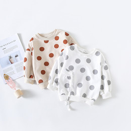 Girls Tassel Shirt NZ - Polka Dot Tassels Hoodies Toddler Kids Baby Girls Cotton T Shirt Sweatshirt Clothes Children Girl Spring Autumn Sweatshirt Tops