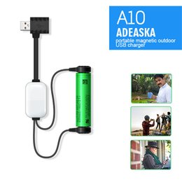 $enCountryForm.capitalKeyWord NZ - ADEASKA A10 18650 Battery Charger for Li-ion Batteries Multifunction Magnetic USB Charger Mini Charging Discharging Power Bank 50PCS DHL