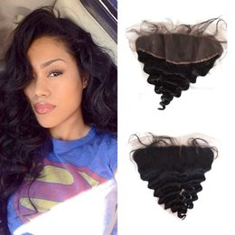 tangle shed free hair Australia - Best Selling Products 13x4 Lace Frontal Closure With Baby Hair Loose Wave Free Middle Part No Tangle No Shedding FDshine