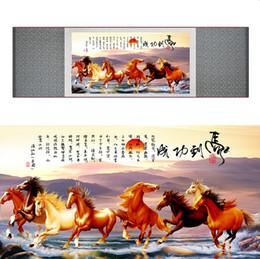 $enCountryForm.capitalKeyWord Australia - Top Quality Chinese Horse Be Painting Horse Art Painting Silk Scroll Art Painting Eight Horses Painting2019062801