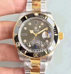 $enCountryForm.capitalKeyWord Australia - Luxury EW Factory Automatic Cal.3135 Watch Mens Ceramic Bezel Diamond Dial Gold Watches Men Dive Sport Sub 116613 Eta Oyster Wristwatches