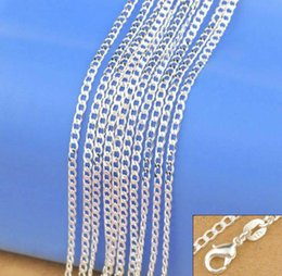 Silver Chains Free Shipping Australia - 925 Sterling Silver Necklace Genuine Chain Solid Jewelry for women 16-30 inches Fashion Curbwith Lobster Clasps Free Shipping