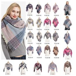 Tassels pashminas online shopping - Plaid Scarves Blankets Girls Check Shawl Grid Oversized Tassel Wraps Lattice Square Neck Scarf Fringed Pashmina Winter Neckerchief MMA2395