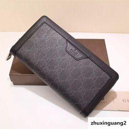 $enCountryForm.capitalKeyWord Australia - Top Quality Luxury Celebrity Design Letter Embossing Zipper Wallet Long Purse Canvas Leather Black Man 322147 Clutch
