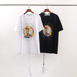 cartoon printed couple t shirts 2019 - Simpson series thin section cotton summer couple inside T-shirt European and American style youth personality cartoon pr