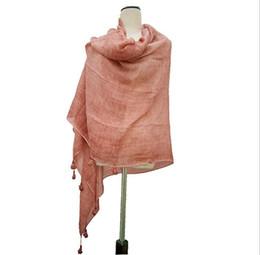 $enCountryForm.capitalKeyWord Australia - Fashion cotton and linen celebrity style high quality female scarf dirty dyed craft shawl tassel big scarf