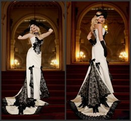 $enCountryForm.capitalKeyWord Australia - Gothic Mermaid Evening Gowns Strapless Appliqued Satin prom dresses 2019 New Corset Back Long Special Occasion Party Gowns