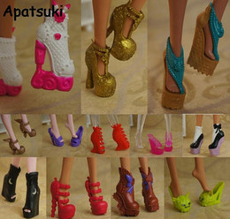 Boots for girls high heel online shopping - 10pairs New Colorful Accessories Shoes For Monster High Doll Fashion Boots High Heel Shoes Sandals For Monster Doll