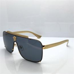 0602a97f840f4 Nuevas gafas de sol de lujo de medusa con montura de metal de gran tamaño  gafas de diseñador de marca para hombre