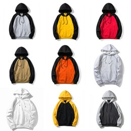 cotton polyester hoodies NZ - Fleece Polyester Pullover Coat Men Hoodie Hooded Solid Color Casual 100% Cotton Sweatshirts Hip Hop Mens Street Style Hoodies#818