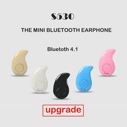 Discount micro headphones wireless Mini Style Wireless Bluetooth Earphone Bluetooth Headset S530 V4.1 Sport Headphone Phone With Micro Phone For Iphone Pho