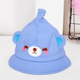 815e7ae8df5e7e Wholesale Baby Infant Sun Hats Australia - Infant baby bear nipple basin cap  Cartoon apex spring