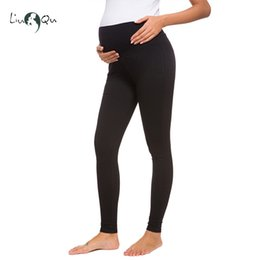 wide leg cotton yoga pants Canada - 2 Pack Women's Comfortable Maternity Cotton Leggings Full Ankle Length Pregnancy Stretchy Pants Soft Lounge Trousers Yoga