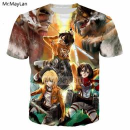 Cool T Shirts Men Australia - Anime Attack on Titan 3D Print T shirt Men women Hiphop Punk Crewneck Streetwear T-shirt 2019 Boys Cool Tshirt Clothes Oversized