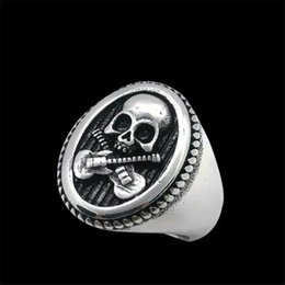 guitar face UK - 1pc Free Worldwide Shipping Guitar Legend Ring 316L Stainless Steel Band Party Fashion Jewelry Cool Music Rock Skull ring